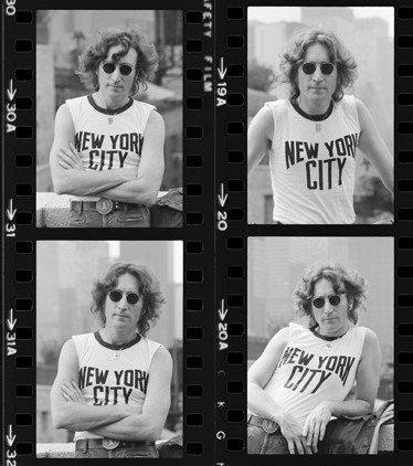 "Bob Gruen, ""Lennon contact sheet,"" 1973"
