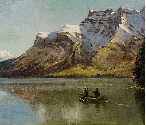 "Frederic Marlett Bell-Smith, ""Lake Minnewanka and Mount Inglismaldie,"" ca. 1890"