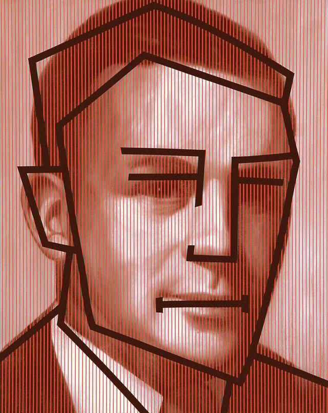 "Chris Cran, ""Red Man-Black Cartoon,"" 1990"
