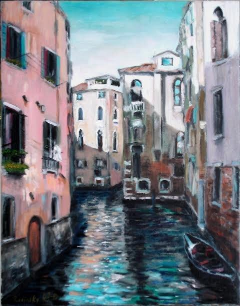 """Iza Radinsky, """"Venice Reflections,"""" nd"""