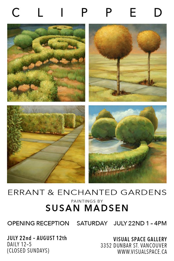 "Susan Maden, ""Clipped Invitation,"" 2017"