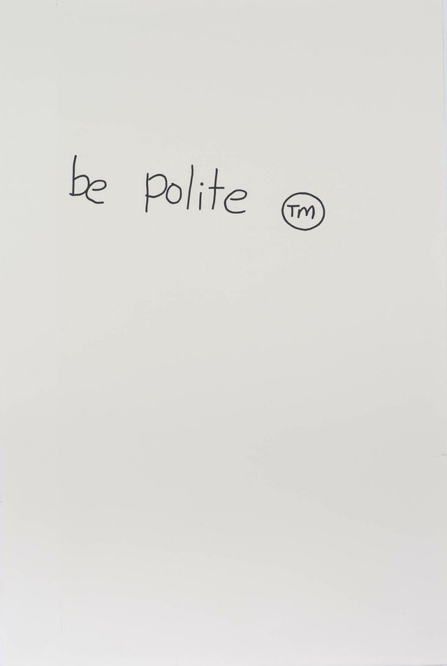 "Gordon Bennett, ""Notes to Basquiat: Be Polite,"" 1998"