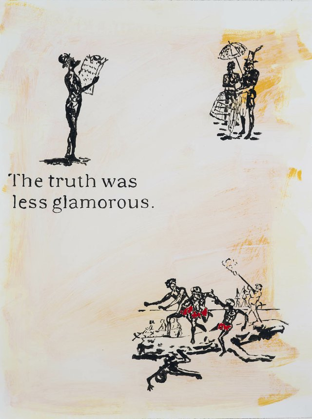 "Gordon Bennett, ""Untitled (The Truth was Less Glamorous),"" circa 1992"