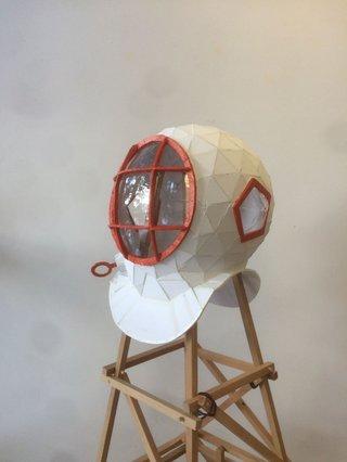 """Todd Gronsdahl, """"G.A.S.P.R. Helmet"""" (detail), 2017"""