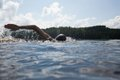 "Paul Walde, ""Tom Thomson Centennial Swim,"" July 8, 2017"
