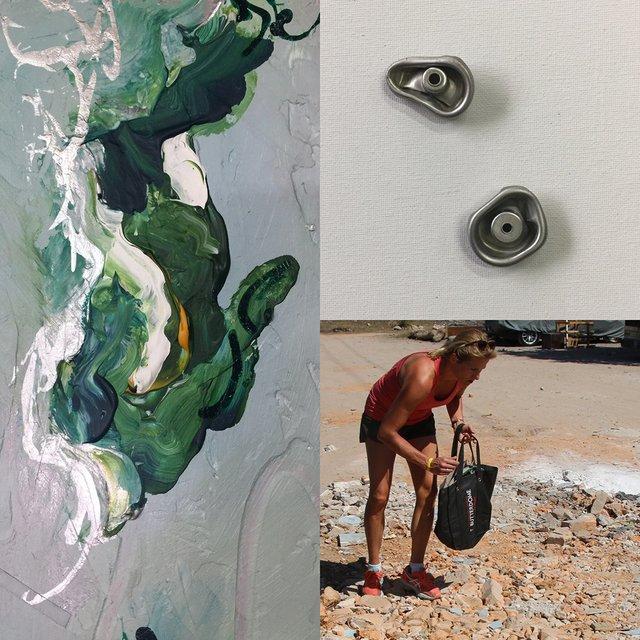"Julie Witten-Land, "" Scrap Metal Painting,"" 2017"
