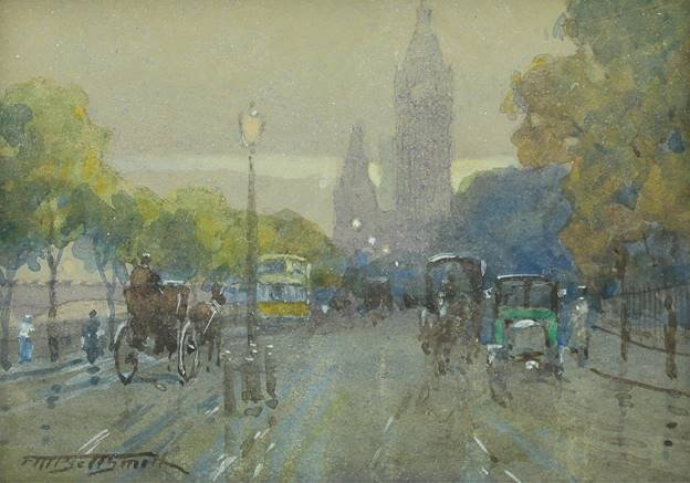 "Frederic M. Bell-Smith, ""The Embankment, London,"" nd"
