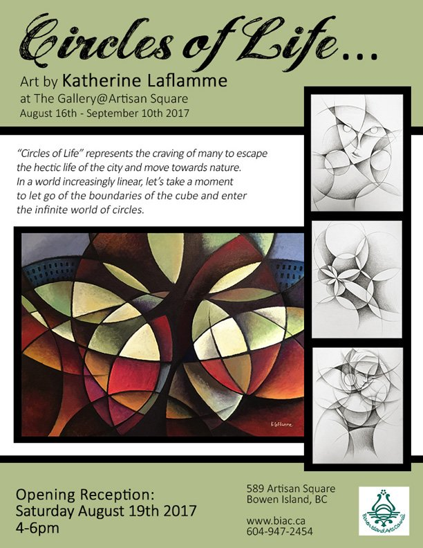 "Katherine Laflamme, ""Circles of Life, Invitation,"" 2017"