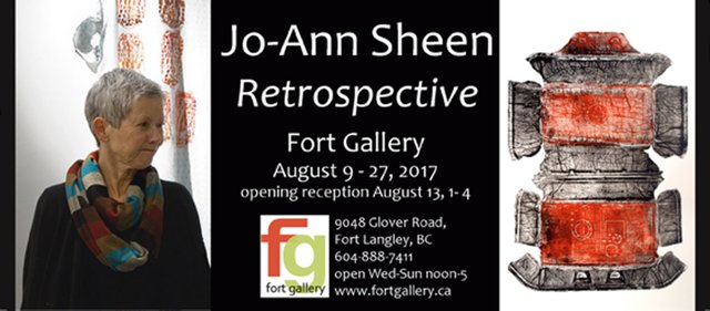 Jo-Anne Sheen Retrospective Invitation