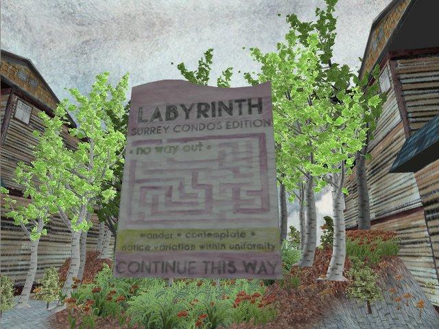 """Sandee Moore, """"Labyrinth: Surrey Condos Edition, Featuring Vinyl Village Upgrade and Surrey Condos Edition,"""" nd"""