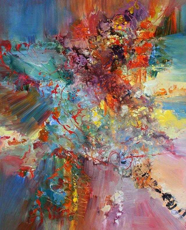 """Ernestine Tahedl, """"Anton Bruckner Motet Pange Linga,"""" 2017"""