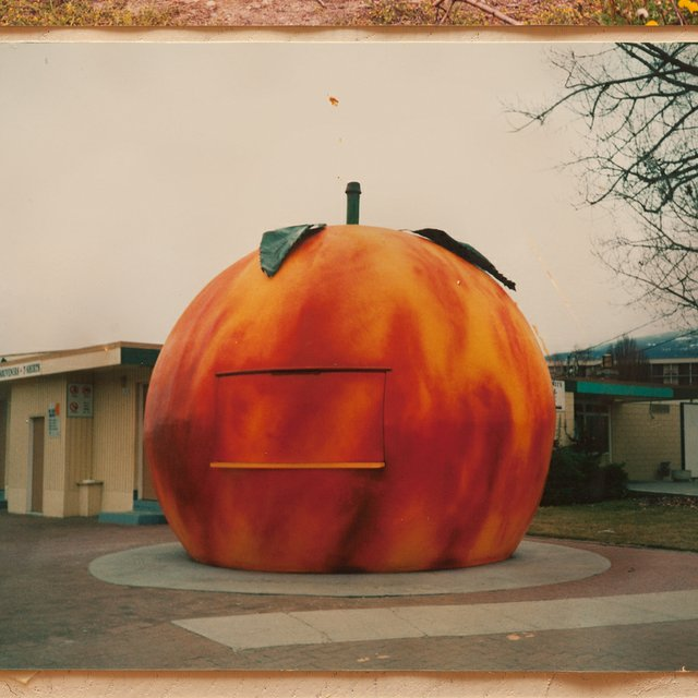 The Peach in Penticton, B.C. Late 1980s or early 1990s. Detail from Soehn Family Photos (1950s-1990s), documented by Scott August, 2015