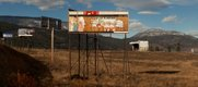 West Kelowna billboard showing remnants of advertisement for popular theme park. Photo courtesy Scott August.