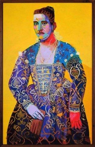 """Andy Dixon, """"Yellow Portrait,"""" 2014,"""