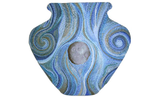 """Tawatina Bridge Art Project, David Garneau, """"Vase,"""" Art10"""