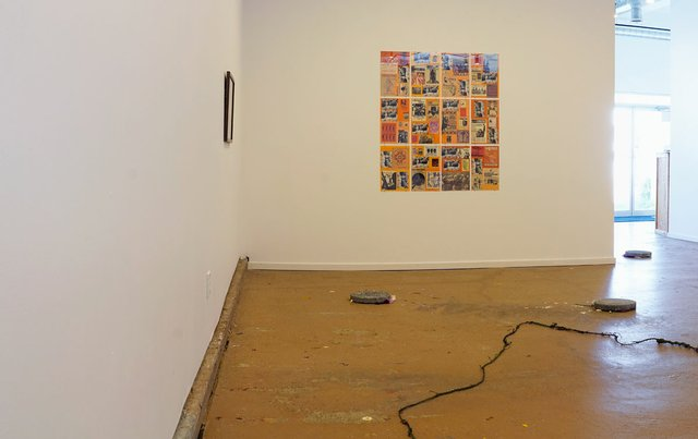 """""""Weird Woman,"""" 2017, installation shot showing """"Triple Jeopardy"""" by Carmen Winant on wall. Photo by Jared Tiller."""