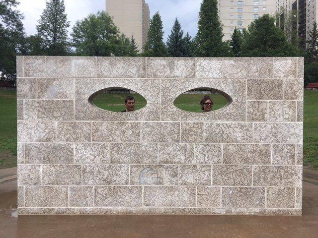 "Kara Hamilton, ""Curtain Wall,"" 2017"