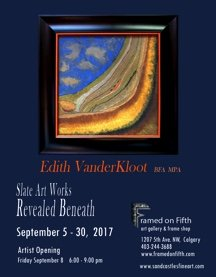 "Edith VanderKloot, ""Revealed Beneath,"" Invitation"