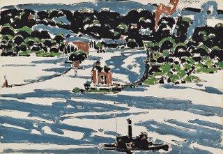 "David Milne, ""Entrance to Saugerties Harbour,"" 1927"