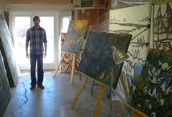 Geoff Phillips in his studio