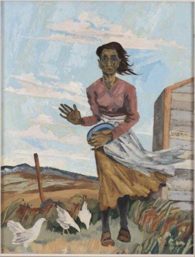 """Maxwell Bates, """"Prairie Woman,"""" 1947"""