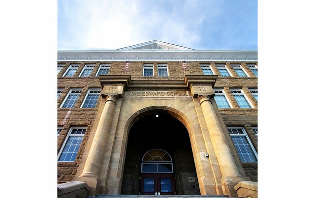 An exterior view of cSPACE, Calgary's new arts centre, in the former King Edward School