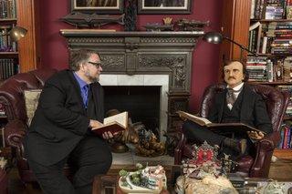Portrait of Guillermo del Toro at Bleak House. Photo © Josh White/ JWPictures.com