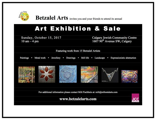 Betzalel Show and Sale Poster 2017