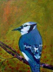 "Linus Woods, ""Autumn Blue Jay,"" nd"