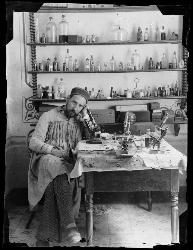 "Santiago Ramón y Cajal, ""Untitled (self portrait),"" c.1885"