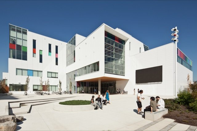 An exterior view of Emily Carr University of Art and Design in Vancouver. Photo courtesy of ECUAD.