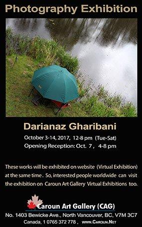 "Darianaz Gharibani,""Photography Exhibition"" Invitation"