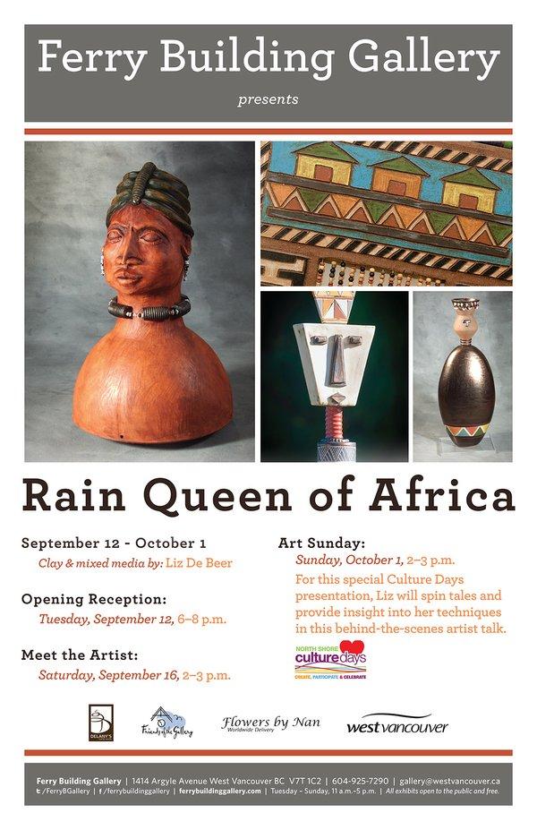 """Liz De Beer, """"Rain Queen of Africa, Poster,"""" 2017"""