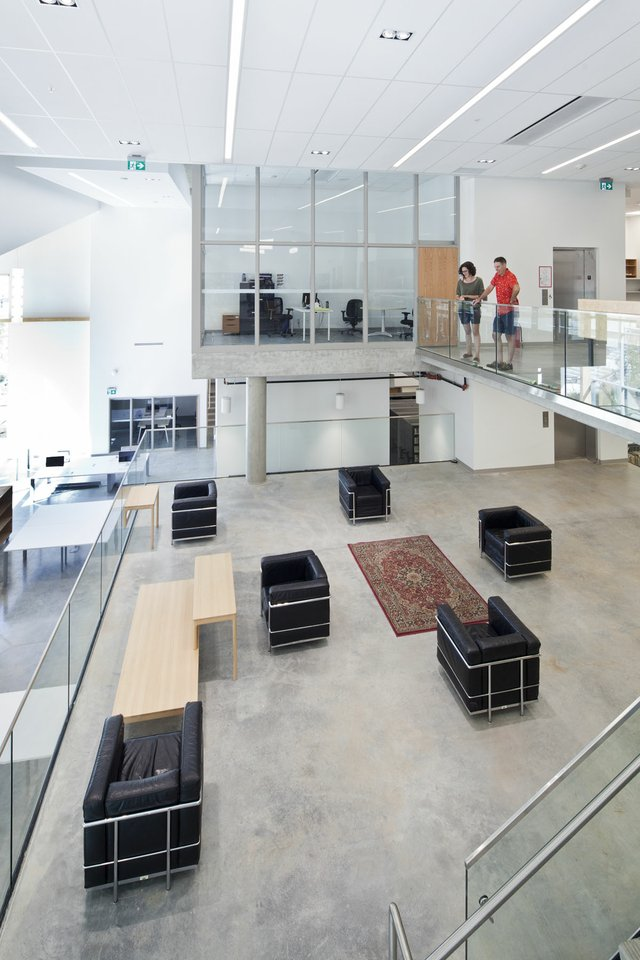 The mezzanine level of the library and learning commons at Emily Carr University of Art and Design in Vancouver. Photo courtesy of ECUAD.