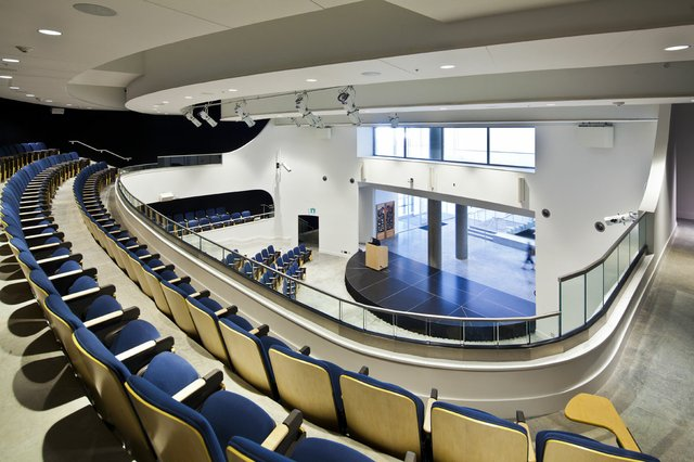 The upper level of the theatre at Emily Carr University of Art and Design in Vancouver. Photo courtesy of ECUAD.