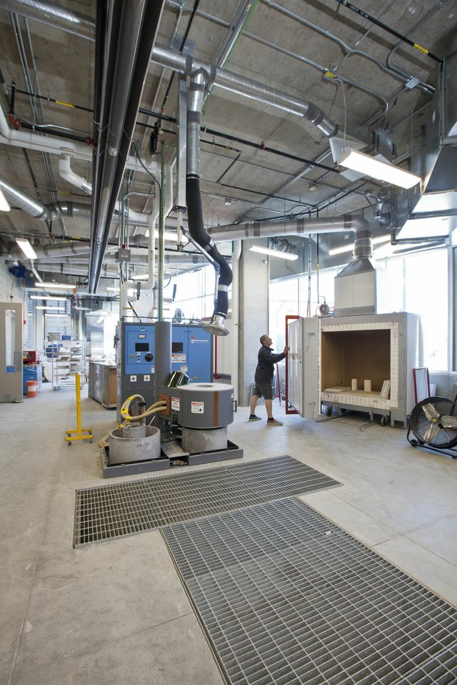 A view of the foundry and ceramic kilns at Emily Carr University of Art and Design in Vancouver. Photo courtesy of ECUAD.