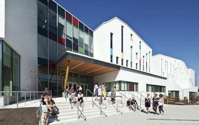 The main entrance of Emily Carr University of Art and Design in Vancouver. Photo courtesy of ECUAD.