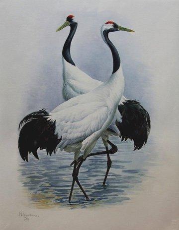 "Fenwick Lansdowne, ""Japanese Crane,"" nd"