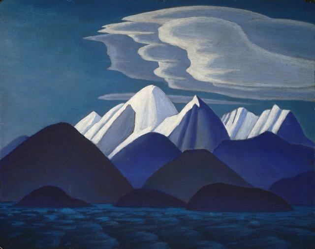 """Lawren Harris, """"Mount Thule, Bylot Island,"""" 1930"""