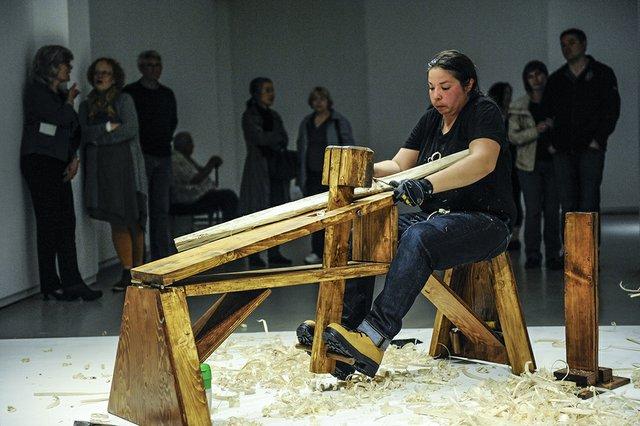 "Ursula Johnson, ""Untitled Performance,"" 2014"