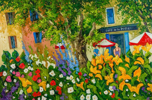 "Robert Savignac, ""Cafe de la Poste,"""