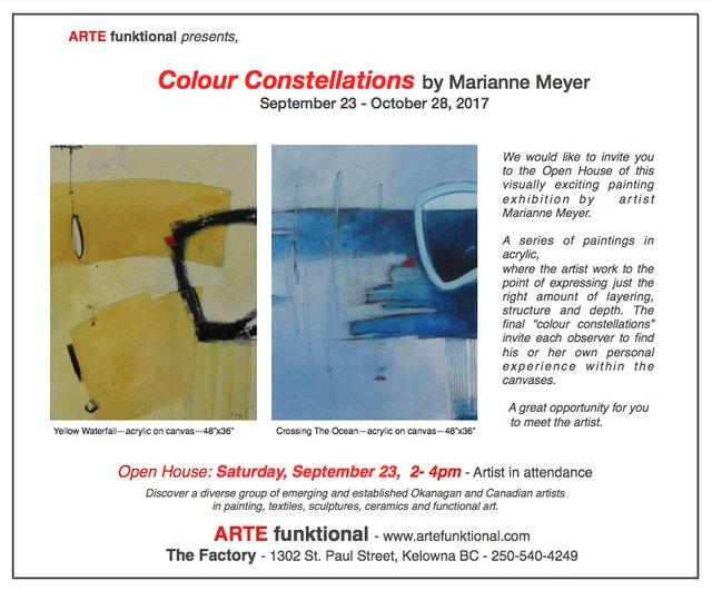 "Marianne Meyer, ""Colour Constellations, Invitation,"" 2017"