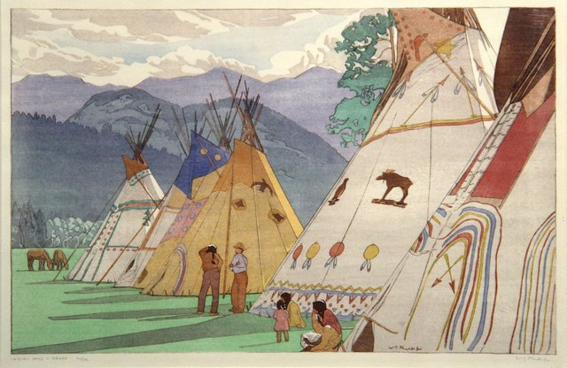 "Walter Joseph (W.J.) Phillips, ""Indian Days, Banff, nd"