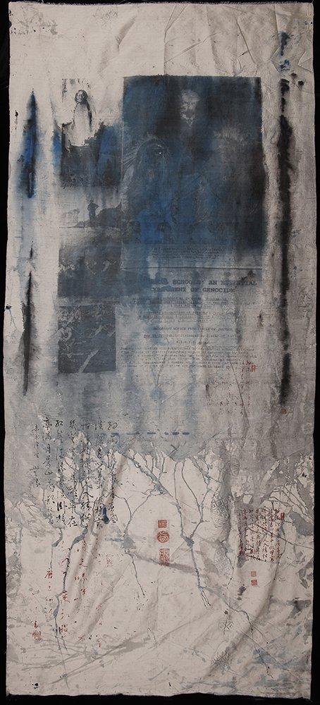 """Carl Beam, """"Residential Schools,"""" 1999"""