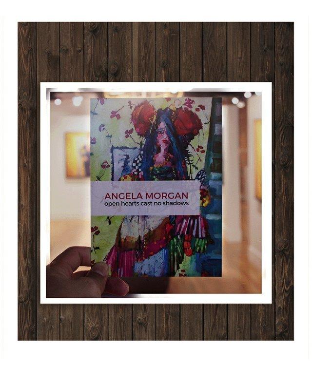 """Angela Morgan, """"open hearts cast no shadows,"""" Invitation"""
