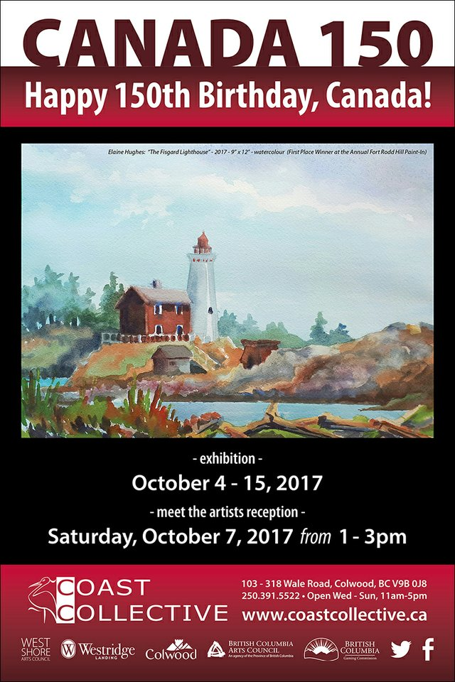 Canada !50 Art Exhibition Invitation
