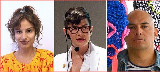 LEFT to RIGHT: Hannah Epstein, Vanessa Dion Fletcher and Omar Badrin