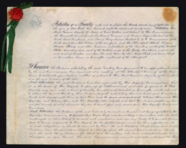 The original Treaty 7 document was signed at Blackfoot Crossing, September 22, 1877
