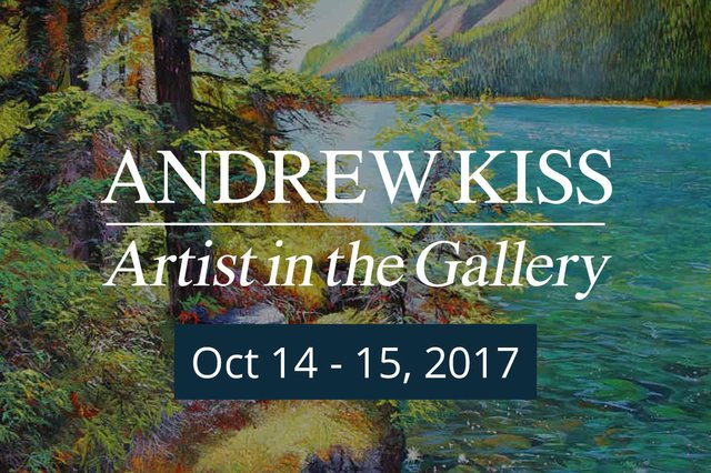 "Andrew Kiss, ""Artist in the Gallery Invitation,"" 2017"