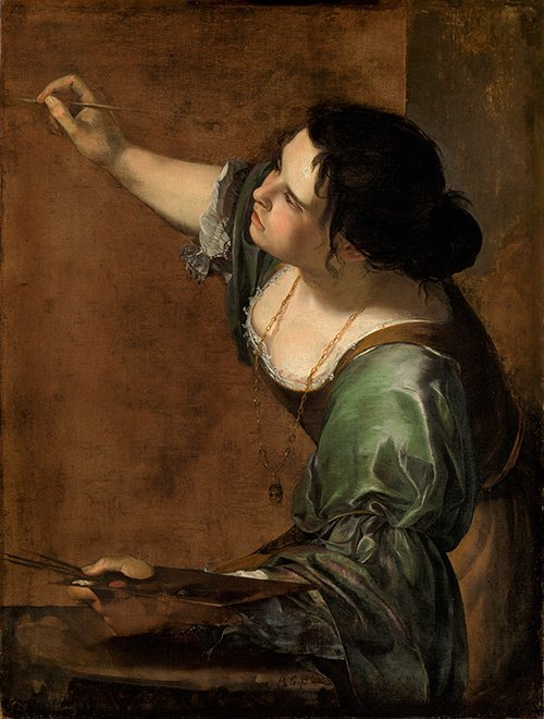 "Artemisia Gentileschi, ""Self-Portrait as the Allegory of Painting (La Pittura),"" c. 1638–39"